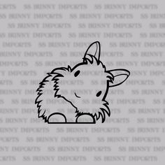 Peering cute head tilt lionhead bunny decal by SSBunnyImports