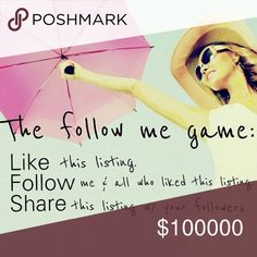 Woot woot!!! 😘🌺🎉👍🌹 New follow game! Even tho 600 people have liked this post and no one else can like it, you can still follow all these awesome Posh babes and have them all follow you back! Follow game part 2 ladies! Tag your closet and like everyone else who has liked this listing and watch your followers grow. It worked for me! You can also go to my other follow game and follow all 600 of the lovely dolls who have followed there. Zara Jeans