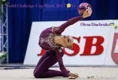 Olena DIACHENKO (Ukraine) ~ Ball @ World Challenge Cup Minsk 05-06/08/'17  Photographer Kate Ianiuk.