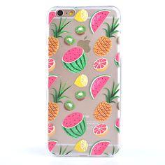motif de fruits de gommage transparente le cas TPU cas de matériau cadre de combo de téléphone arrière pour iphone 6 / 6s de 2016 � $6.99