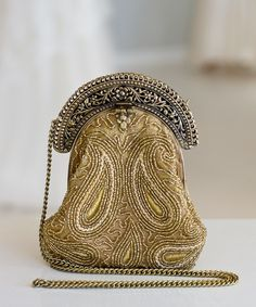 Gold beaded clutch bag, €100 from The Goddess Room, Wicklow