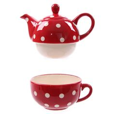 red polka dot teapot!
