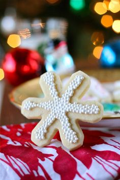Vanilla Bean Christmas Sugar Cookies