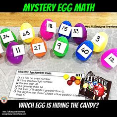 Easter Mystery Egg Math! Free download included. #eastermath