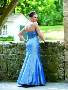 Silk Taffeta Sweetheart Strapless Side Ruching Bodice Mermaid Bridesmaids Dress