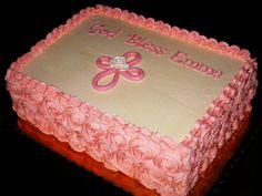 baptism cross cake with buttercream roses   Christening Cake   Flickr - Photo Sharing!