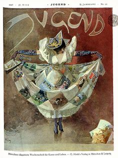 Jugend magazine cover by Heinrich Kley, March 27, 1897