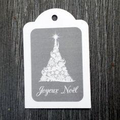 """9 étiquettes cadeau """"Joyeux Noël"""" sapin flocons : Emballages cadeaux par creerpourvous"""