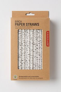- **no longer available (but the idea was great)** Canadian Birch Straws #anthropologie