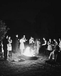 The Bonfire: A bonfire roared outside the barn, attracting guests for some late-night marshmallow roasting.