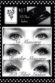 Younique 3D Fiber Lash Mascara. Easy to apply and looks Absolutely AMAZING!!  Orders yours today!!  https://www.youniqueproducts.com/kayleejohnson