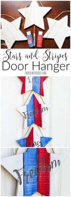 Stars and Stripes Door Hanger http://thekolbcorner.com/stars-and-stripes-door-hanger/