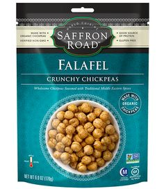 Falafel Crunchy Chickpeas   All Natural Specialty Foods   Gourmet World Cuisine   Saffron Road Food waghiewoaghwa SO GOOD
