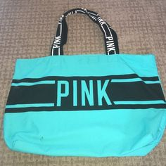 ✨Pink by Victoria's Secret Teal Tote ✨Pink by Victoria's Secret Teal Tote ✨ PINK Victoria's Secret Bags Totes