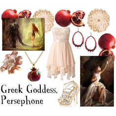 """Persephone, the Greek Goddess of Harvest and Spring and Queen on the Underworld"" by old-clock-long-time on Polyvore"