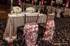 It's your wedding day! Feel special with glamorous chair decor! IMHO!