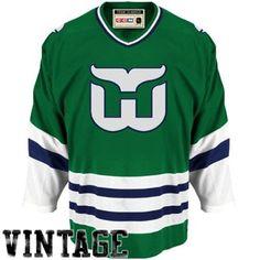 CCM Hartford Whalers Team Classic Premier Hockey Jersey-Green 41f88e22a
