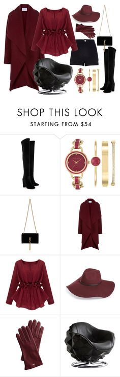 """№39"" by irina-barylchuk ❤ liked on Polyvore featuring River Island, Aquazzura, Anne Klein, Yves Saint Laurent, Harris Wharf London, Halogen, Mark & Graham and Andrew Martin"