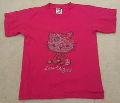 TND Girls Pink Studded Las Vegas Short Sleeved T Shirt 100% Cotton 10-11 Years #fashion #clothing #shoes #accessories #kids #girls (ebay link) Vintage Crewneck Sweatshirt, Crew Neck Sweatshirt, T Shirt, Pink Shorts, Pink Girl, Kids Girls, Las Vegas, Link, Sleeves