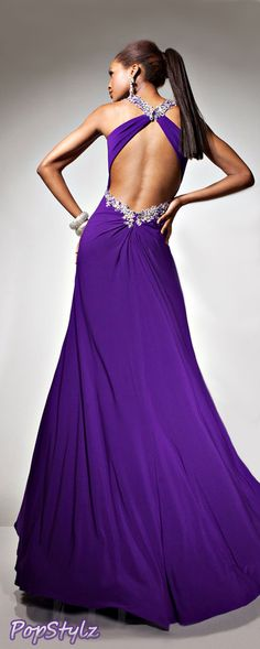 Tony Bowls Purple Gown