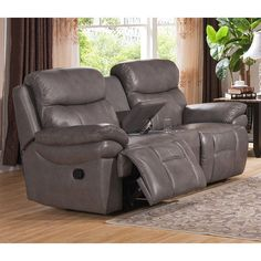 Amax Leather Summerlands Top Grain Leather Reclining Loveseat - SUMMERLANDS-L #RecliningSofa