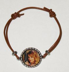 Taylor Swift Adjustable Leather PhotoPendant by DixonsJewelry, $8.99
