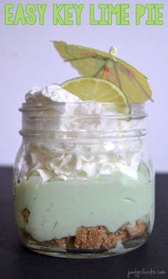 Easy Key Lime Pie, recipe can be made in a pie plate.