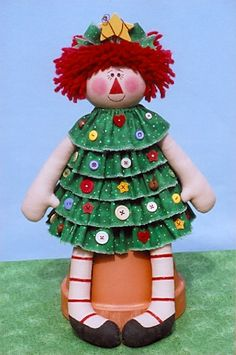 *RAGGEDY ANN ~ Cute Raggedy ready for the holidays....