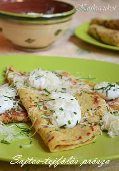 Koskacukor: Sajtos, tejfölös prósza Hungarian Recipes, Fruits And Vegetables, Scones, Quiche, Potato Salad, Food And Drink, Cooking Recipes, Ethnic Recipes, Foods