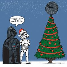 Death Star Tree - Christmas card, for all Star Wars fans.