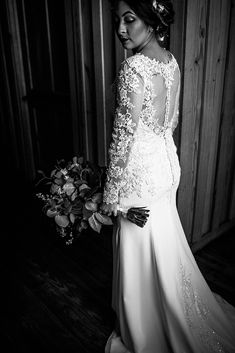 | long sleeve wedding dress | long sleeve lace wedding gown | winter wedding dress | brides of houston | houston wedding photographer | sheer lace wedding dress | elegant wedding gown | unique wedding dress | classy wedding gown | photo taken at THE SPRINGS Event Venue. follow this pin to our website for more information, or to book your free tour! SPRINGS location:  Stonecreek Hall in Katy, TX photographer:  Julie Doniero Photography #weddingdress #weddinggown #winterwedding #bride #bridals Elegant Wedding Gowns, Wedding Dress Styles, Lace Wedding, Gown Photos, Long Sleeve Wedding, Classy Dress, Dress Long, Houston, Brides