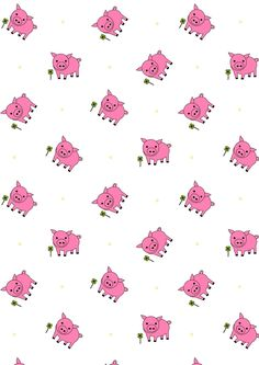 FREE printable lucky pig pattern paper