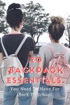 20 Backpack Essentials You Need To Have For Back To School