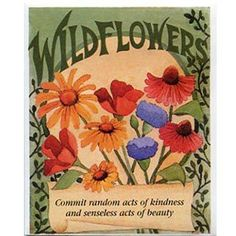 """Amazon.com: Wildflower Favor Seed Packet """"Random Acts of Kindness"""" 25 Packets per Order: Patio, Lawn & Garden"""