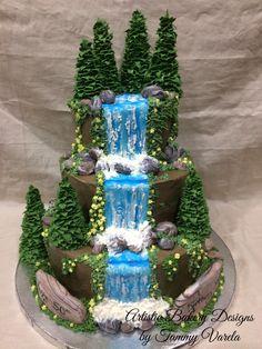 My waterfall birthday cake. My waterfall birthday cake. My waterfall birthday cake. My waterfall birthday cake. Pretty Cakes, Cute Cakes, Beautiful Cakes, Amazing Cakes, Animal Birthday Cakes, New Birthday Cake, Unique Birthday Cakes, Cake Decorating Techniques, Cake Decorating Tutorials