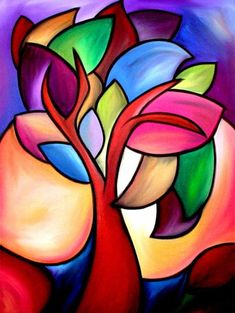 Art 'Winds Of Time – Color – by Thomas C. Fedro from Color - Malerei Pinterest Pinturas, Pastel Art, Tree Art, Paint Designs, African Art, Art Lessons, Flower Art, Watercolor Art, Pop Art
