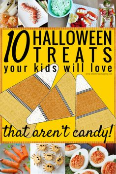 10 Halloween Treats Your Kids will LOVE - that AREN'T candy!! The holidays don't have to be loaded with sugar! Check out these great ideas for healthy, spooky treats.