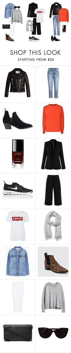 """""""Autumn outfit ideas. #2"""" by uselessdk on Polyvore featuring Acne Studios, H&M, Sigerson Morrison, Maison Scotch, Chanel, STELLA McCARTNEY, NIKE, Ted Baker, Levi's and Witchery"""