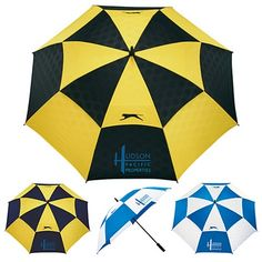 Promotional 62 Slazenger Logo Manual Vented Umbrella #6050-48 #advertising #marketing #branding #employeegifts   Customized Umbrellas   Logo Umbrellas