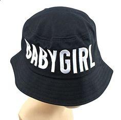 Keral Blends Babygirl Letter Embroidered Bucket Hat Women Cap_Black. Read more description on the website.