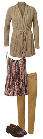 Heading out to the museum with the kids? The #CAbi Fall 2013 Cable Sweater, Trellis Cami, Gold Ruby Jean, and Bass Weejun Penny Loafers are the perfect outfit for learning in style!
