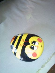 Bumble Bee #2  Rock Painting   E.R.  2014
