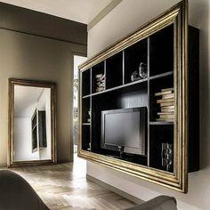 Home Decor Furniture, Cool Furniture, Furniture Design, Lcd Panel Design, Tv Unit Decor, Living Room Tv Unit Designs, Muebles Living, Interior Desing, Classic Interior