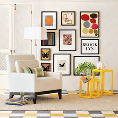 Art Gallery Wall Photo Framed Photos Interior Design And Decor Dining Room Leaning Ledges Shelves Via West Elm