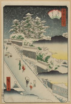 Philadelphia Museum of Art - Collections Object : In the Snow at Kasumigaseki (Kasumigaseki setchū), from the series Thirty-Six Views of Edo (Tōto Sanjūrokkei)