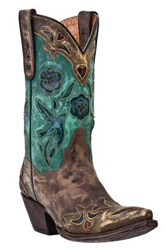 Women's Dan Post Cowgirl Boots Vintage Bluebird Western Boots