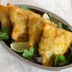 A samosa is a small triangular fried snack from northern India that is traditionally filled with vegetables and spices.