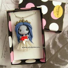 tim burtons corpse bride ooak necklace made in italy via Etsy
