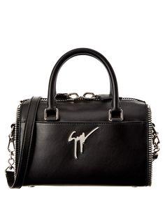 GIUSEPPE ZANOTTI Giuseppe Zanotti Leather Bowler'. #giuseppezanotti #bags #shoulder bags #hand bags #leather #lining #