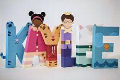 Daniel Tiger Paper Mache Letters - Tigey, Miss Elaina, Daniel Tiger, Prince Wednesday, Katerina Kittycat, O the Owl